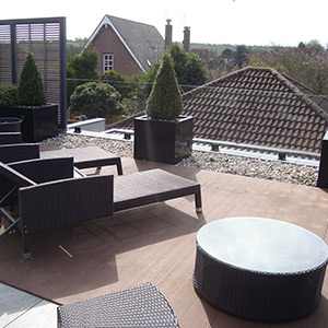 Composite Decking Roof Top